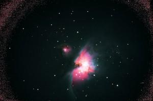 M42 - Elaborazione con Deep Sky Stacker e post-elaborazione con Paint Shop Pro; LX200 f/5