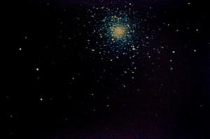 """M5 - Serpente; distanza 24.500 anni-luce. Ripresa ed elaborazione di immagini e """"dark frame"""" come per M4, foto riprese la stessa serata, con seeing mediocre (3-4/10) e trasparenza scarsa."""