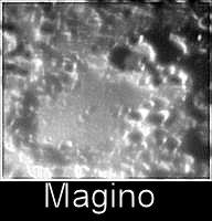 Il famoso cratere Magino. Notare il discreto dettaglio, pur nella limitatezza del sensore utilizzato.