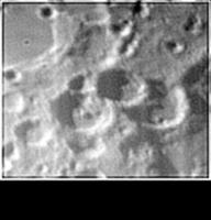 Crateri in prossimità del Polo Sud lunare