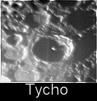 Luna - Cratere Tycho in prossimità del terminatore